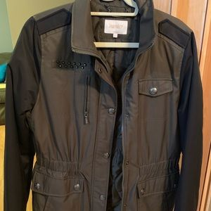 Black and army green fall jacket size L